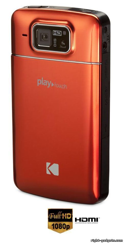 Kodak PlayTouch вид с задней стороны